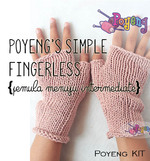 KIT Reguler: Simple Loose Fingerless Knitting Kit